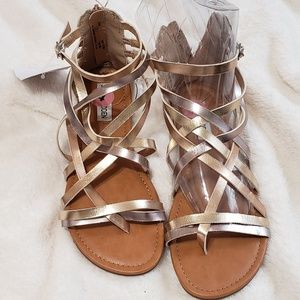 Steve Madden metallic gladiator sandals,  4 NWT